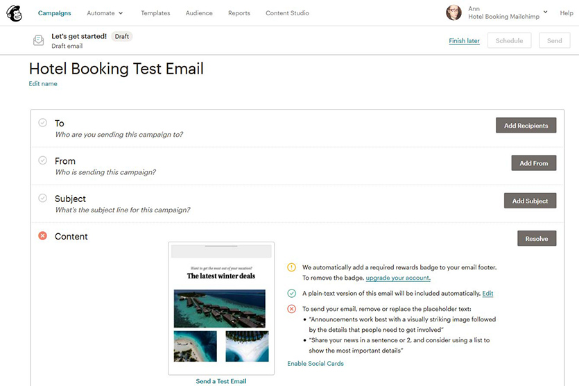 setting-up-test-email
