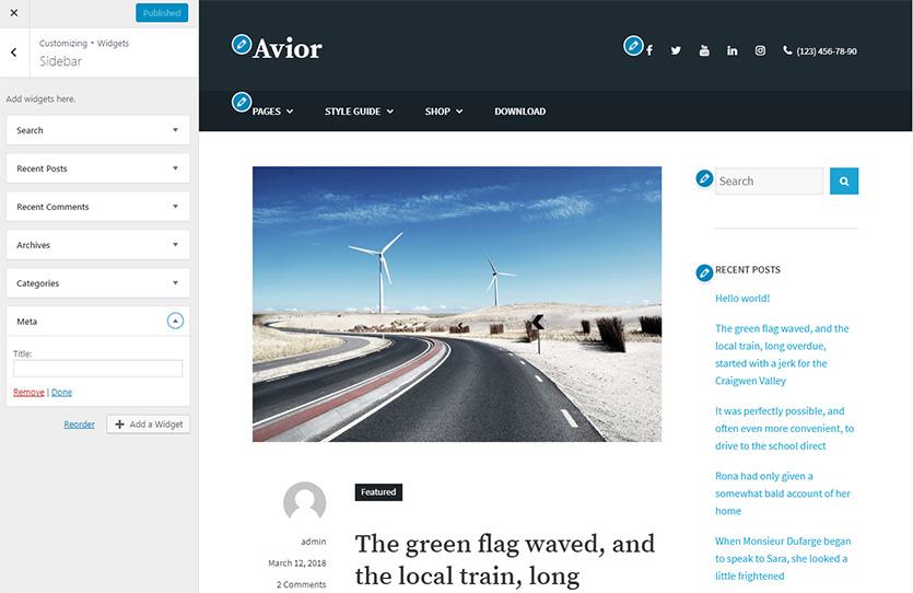 avior-free-wordpress-theme