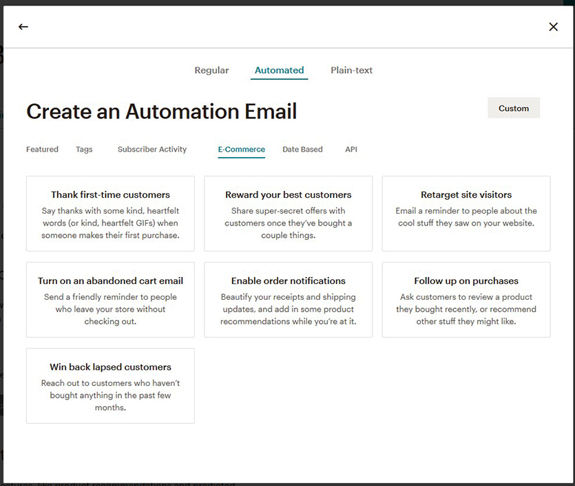 commerce-settings-mailchimp
