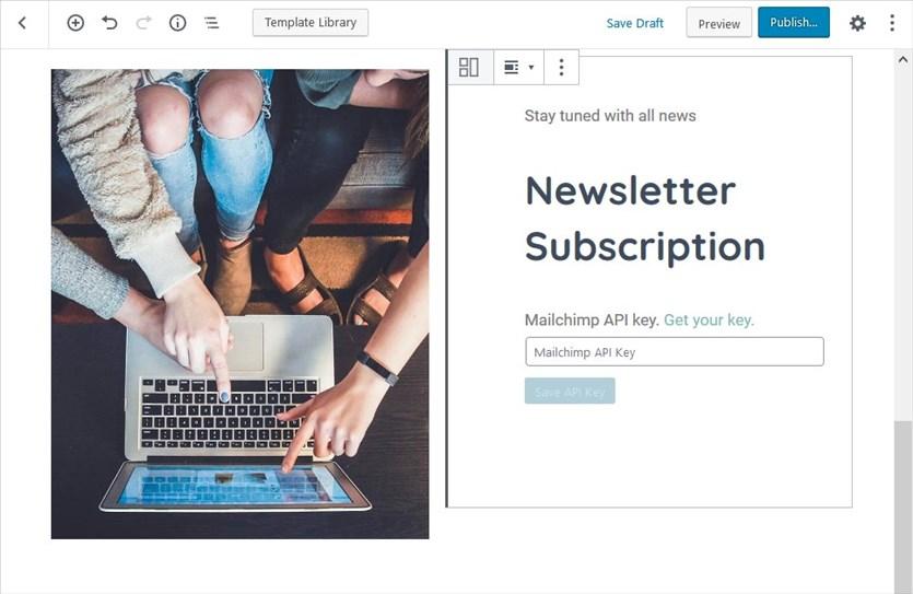 newsletter template block designs