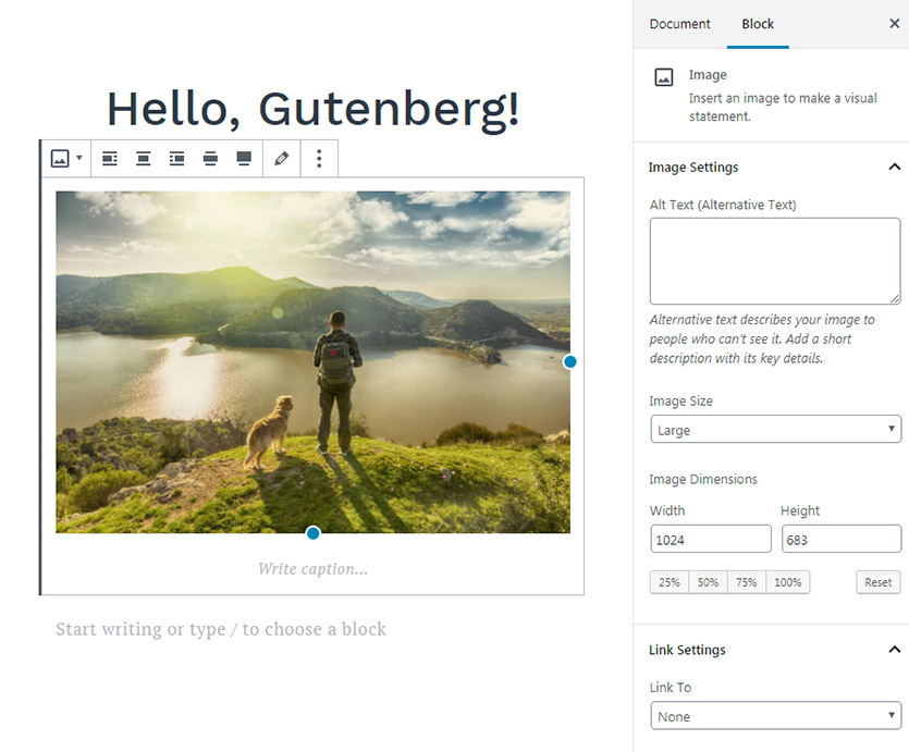 wordpress-gutenberg-website