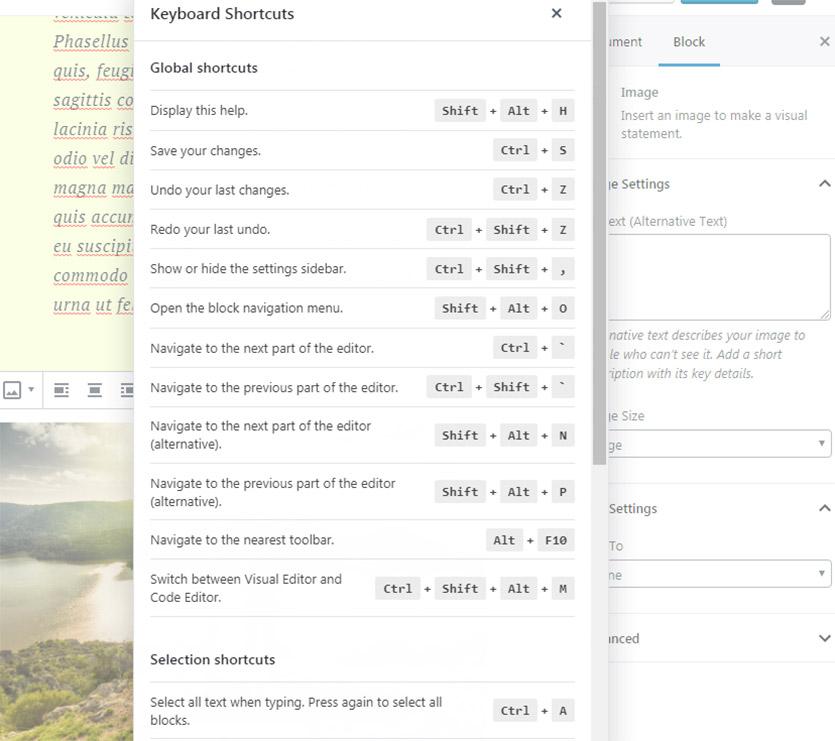 wordpress-keyboard-shortcuts