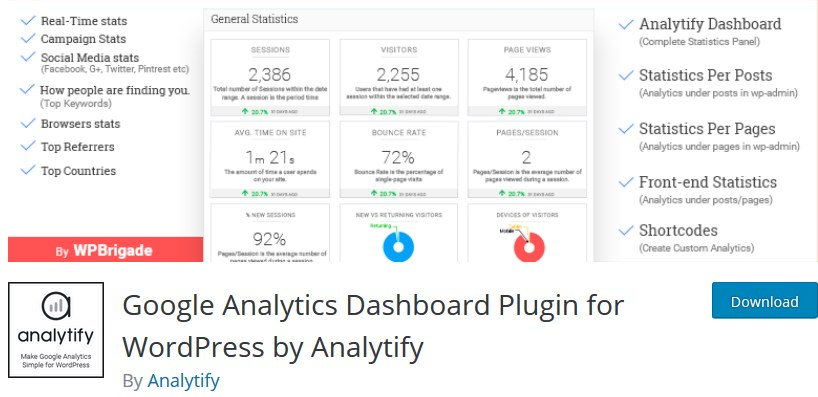 analytify wp plugin