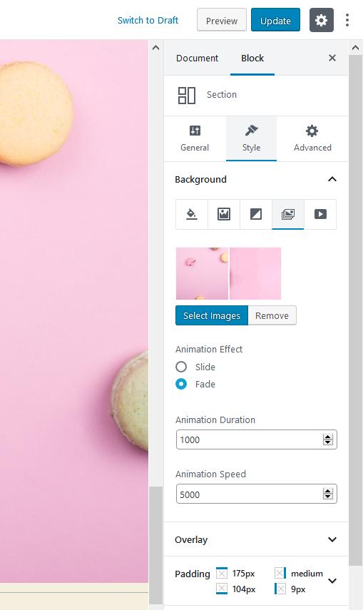 desgin settings wp default theme
