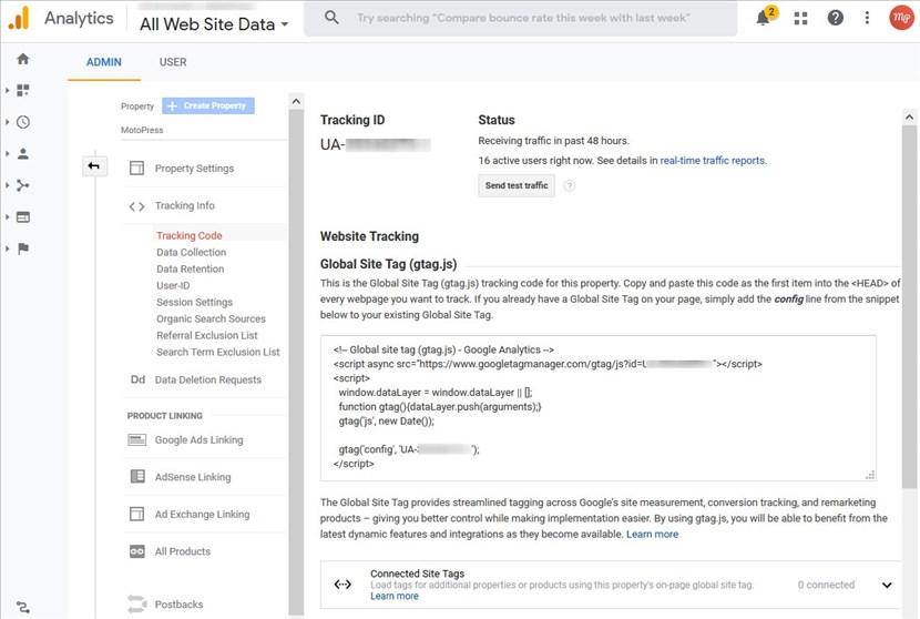 google analytycs tracking code