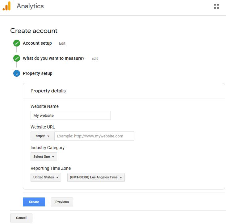 insert google analytics data