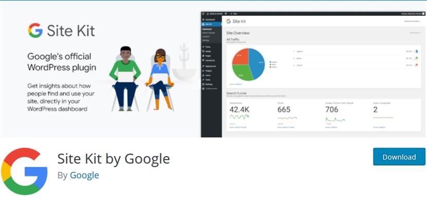 sitekit wordpress google analytics plugin