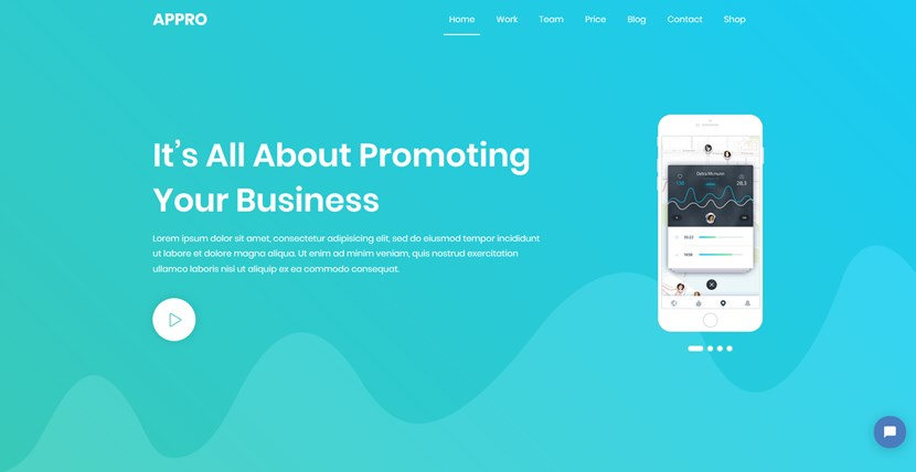 appro landing page