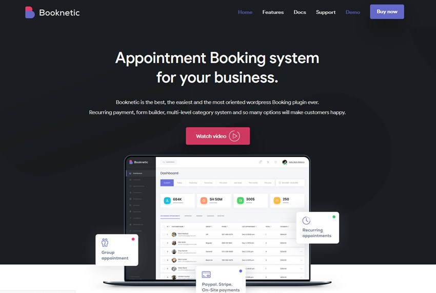 booknetic wp appointment plugin