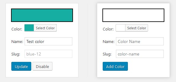 block editor colors custom colors gutenberg