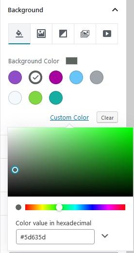 gutenberg default colors