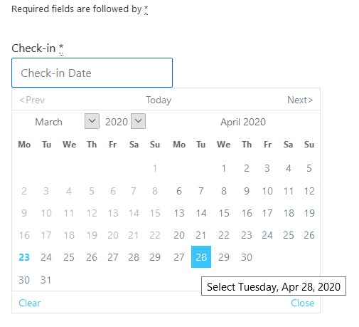 sky blue calendar theme