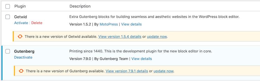 manually update WordPress