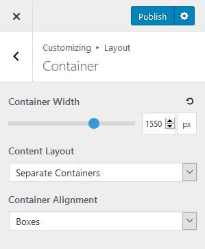 generatepress customizer settings