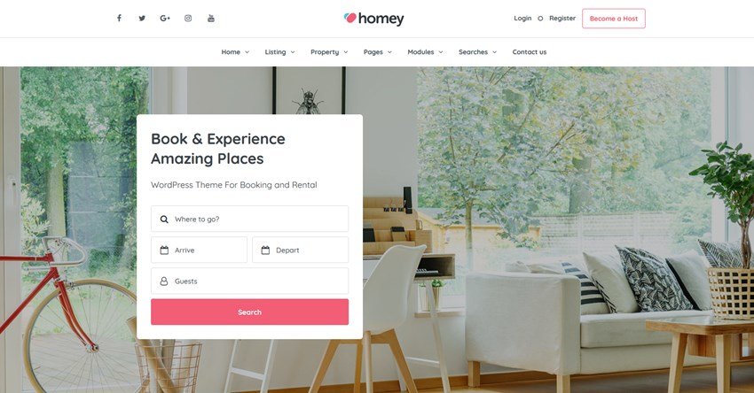 homey wp airbnb theme