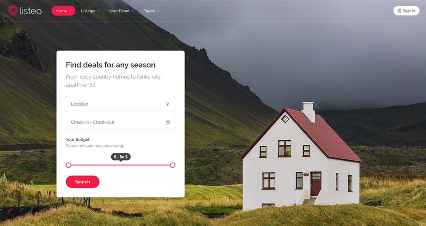 listeo best airbnb wp themes