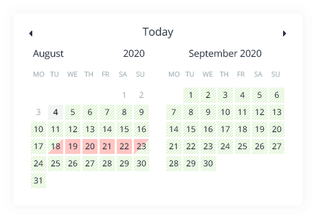 Real-time Availability Calendars