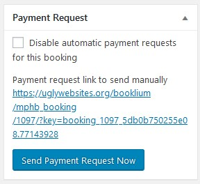send payment request modify hotel bookings