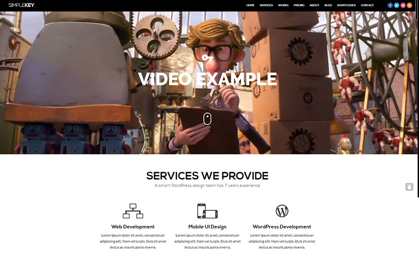 simplekey-wordpress-portfolio-theme