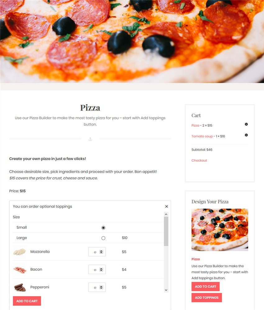 toppings online food delivery wordpress plugin