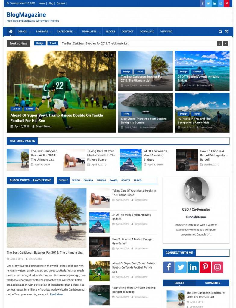 BlogMagazine WordPress theme