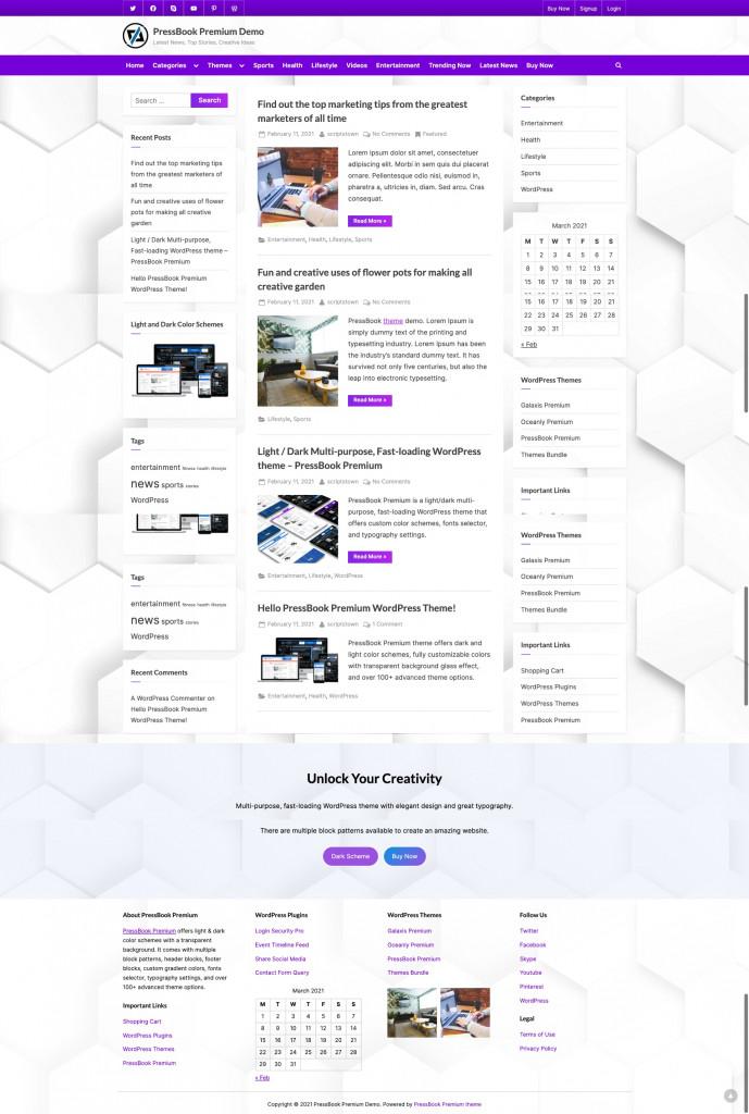 PressBook Multipurpose WordPress Theme