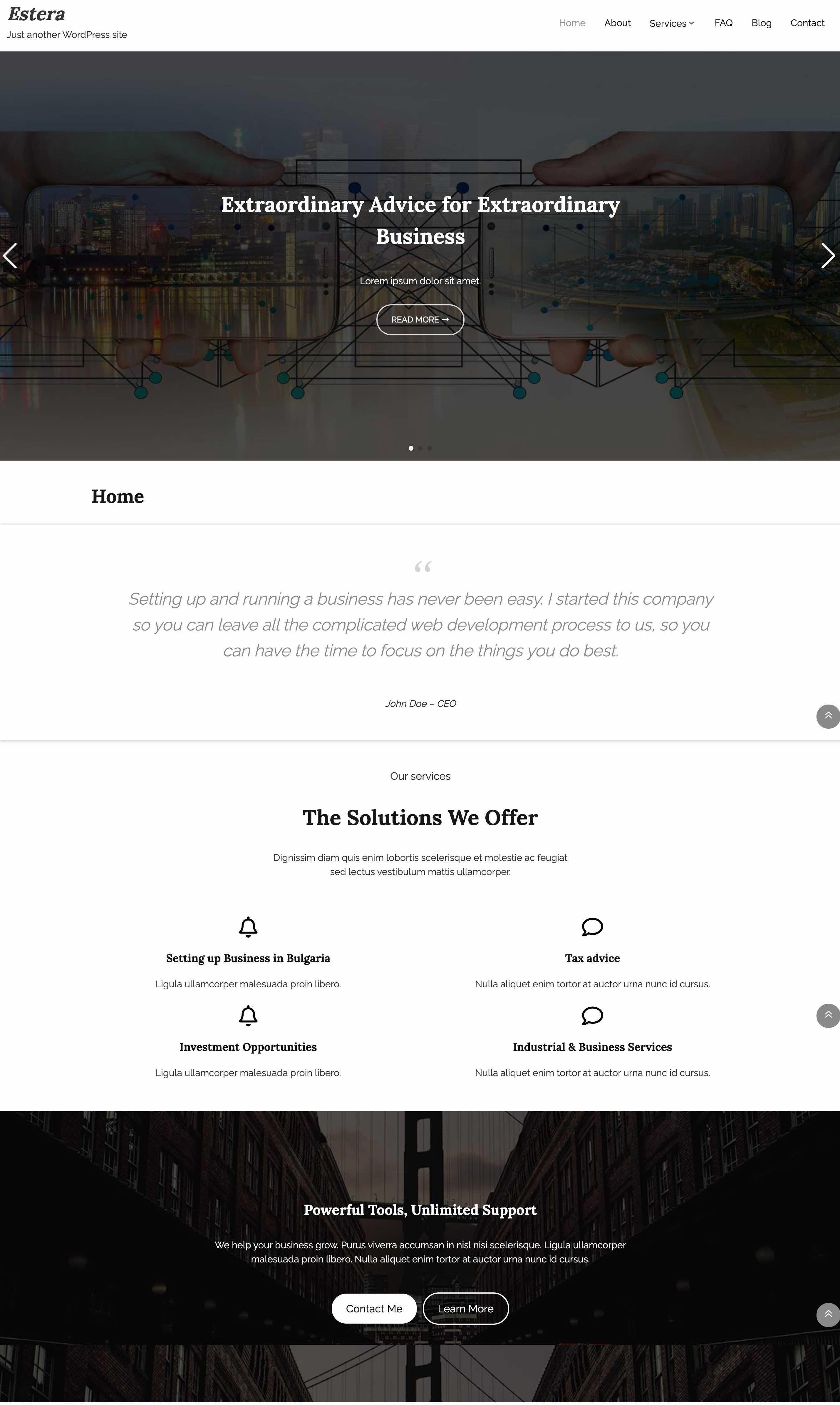 Estera WordPress Theme