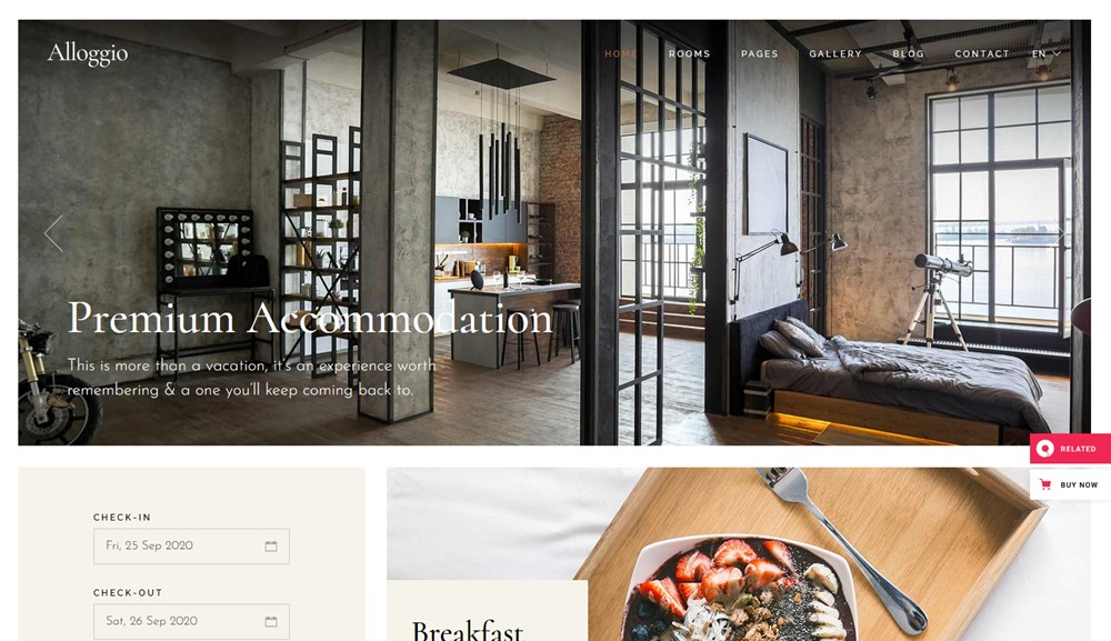 allogio wordpress apartment template