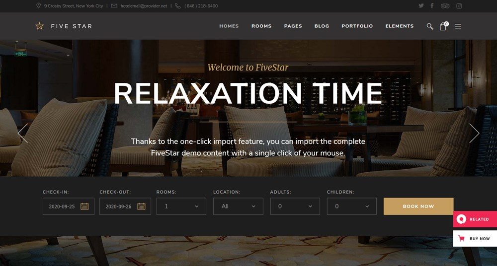 five star apartment rental wp theme