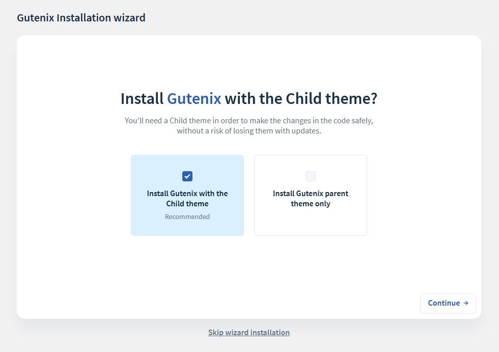 gutenix child theme