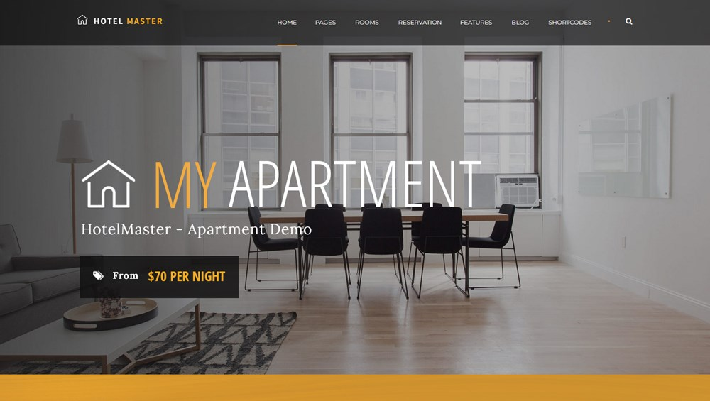 hotel master apartment booking website template