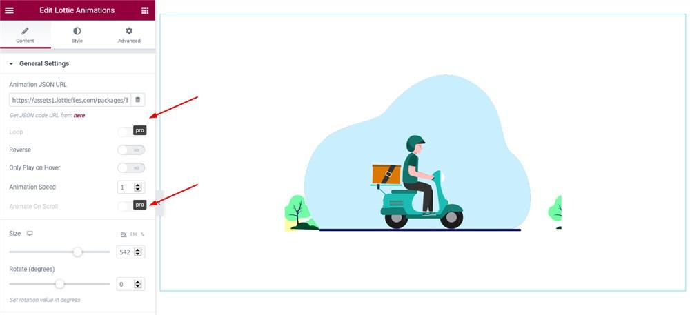 lottie animation elementor widget pro