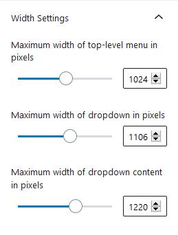 menu width settings