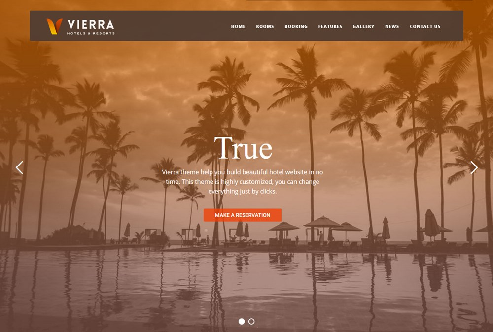 vierra apartment booking wordpress theme