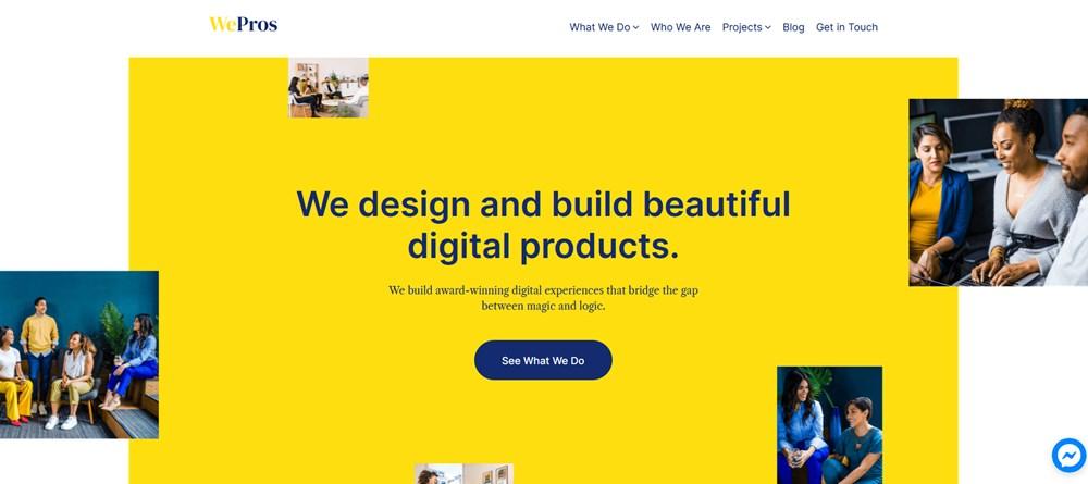 wepros demo gutenix business templates