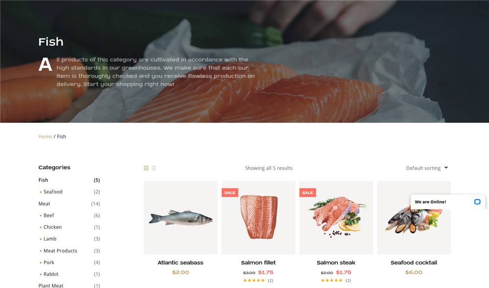 featured category wordpress butchers shop theme