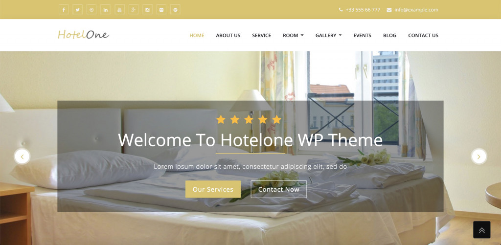 Hotelone Elementor template