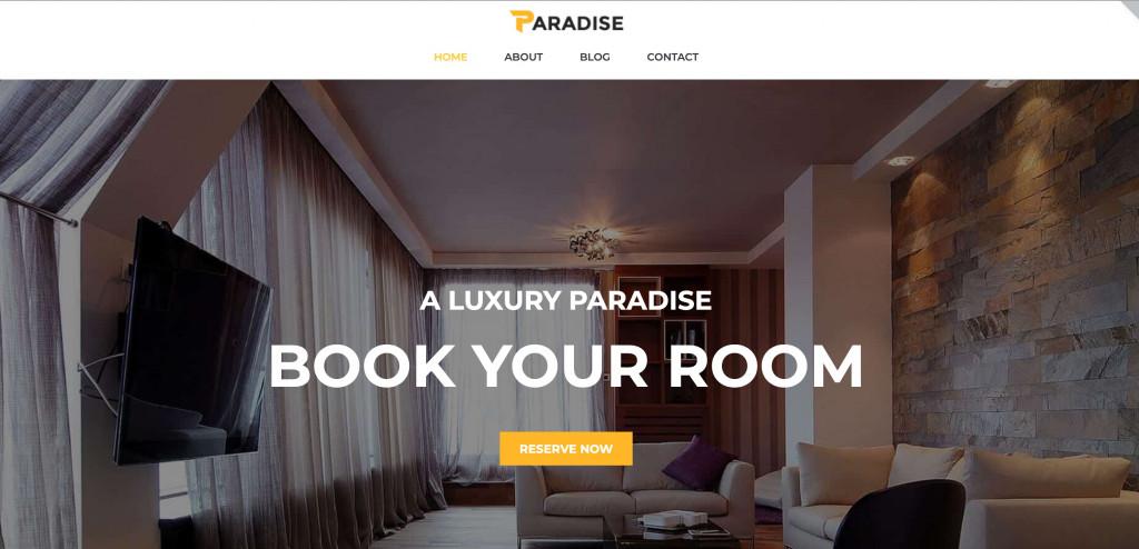 Paradise free Elementor theme