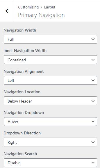 generatepress navigation