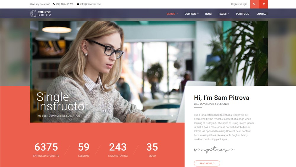 Course & LMS WordPress Theme