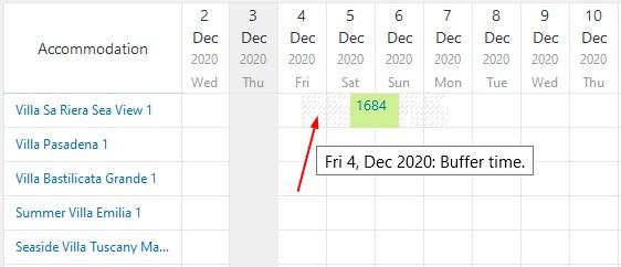 buffer time in a calendar
