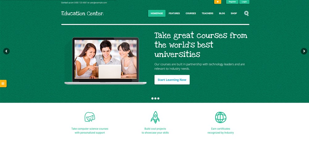 education center wp theme