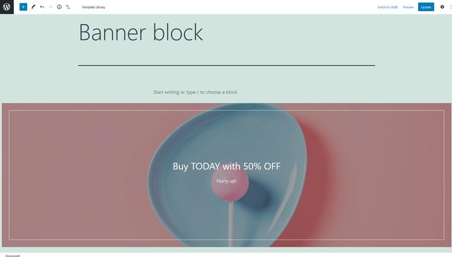 banner block