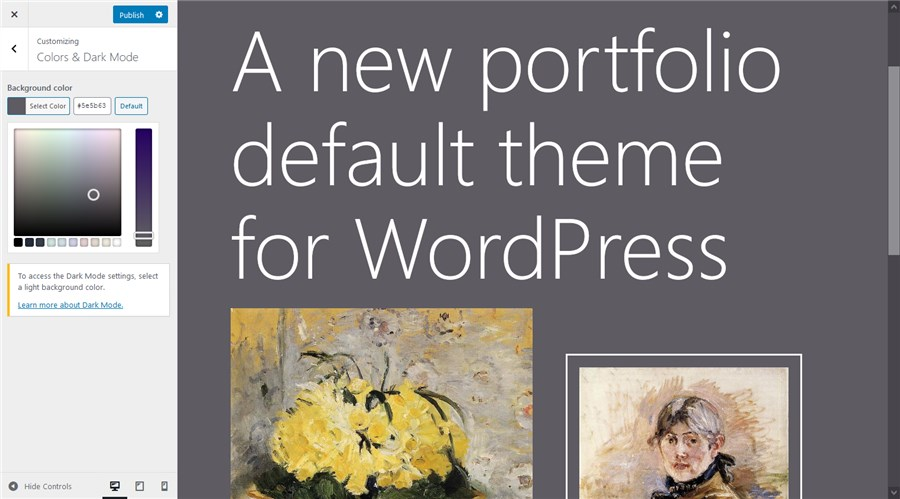 colors wordpress