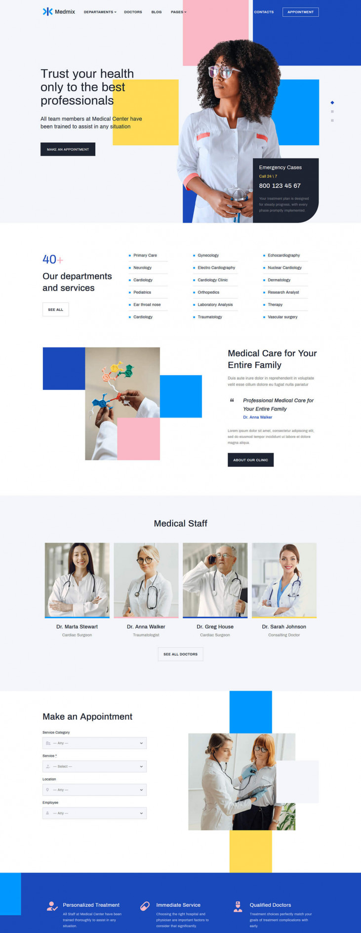 Elementor Medical WordPress Theme