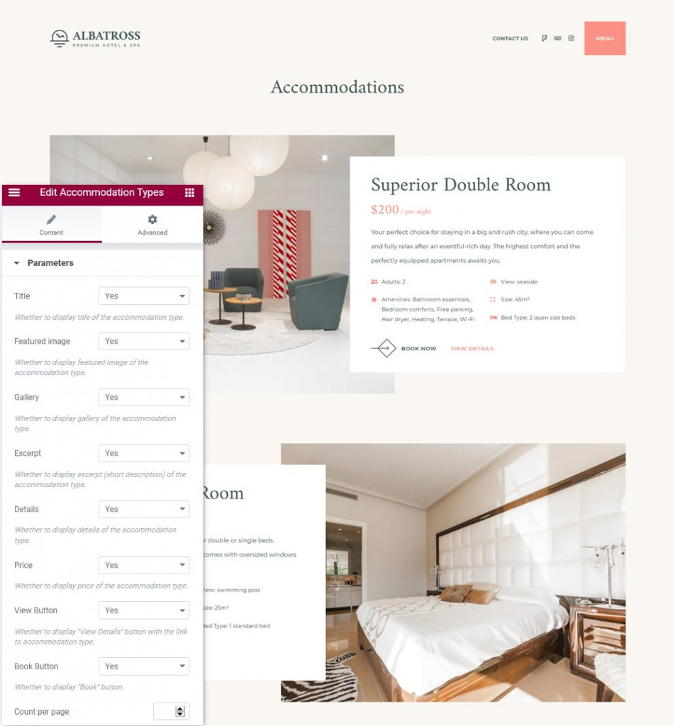 accommodation grid