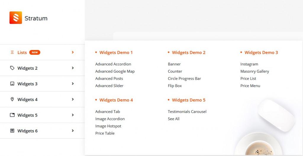 badge startum mega menu elementor