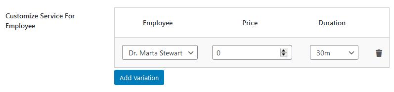 service customization