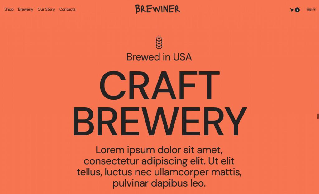 Brewiner - Craft Brewery WordPress Theme