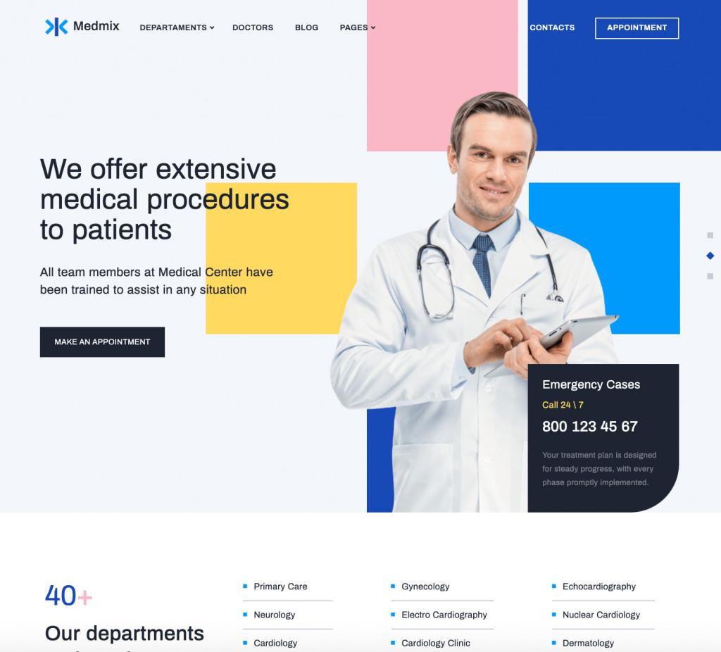 Medmix - Elementor Medical WordPress Theme